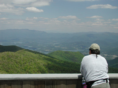 Brasstown bald overlooking Hiawassee Georgia
